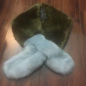 ZARA Faux fur scarf/stole
