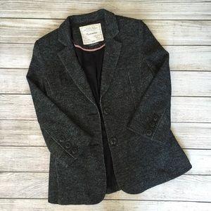 Anthropologie Cartonnier Gray Knit Blazer