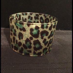 Animal Print Lucite Cuff Bracelet