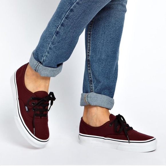 91bb580cf7be22 Vans Maroon Authentic Sneakers. M 58ae55b69c6fcff41a009085