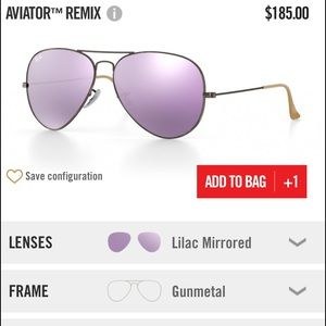 Ray-Ban Accessories - Lilac Mirrored Ray Bans