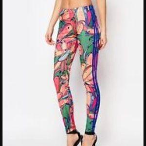 Adidas Pants - Adidas Floral Print Fitness Tights