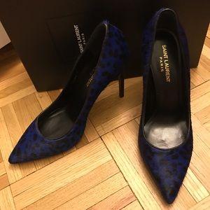 Saint Laurent Shoes - Brand New Saint Laurent blue leopard heels
