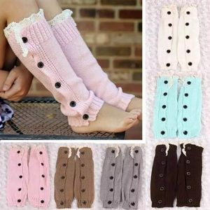 Other - Girls' Stunning Button Lace Leg Warmers