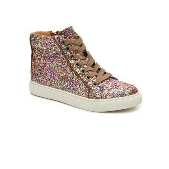 Steve Madden Glitter Sneakers   Poshmark