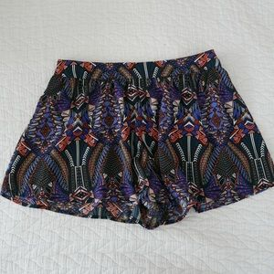 Boho print shorts
