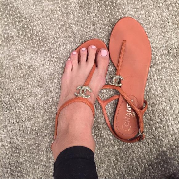 67b7e1881f7faa Chanel Shoes - Chanel t strap rhinestone sandals