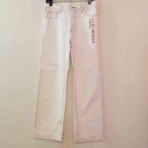 Ice Iceberg Denim - Iceberg white jeans with pink logo