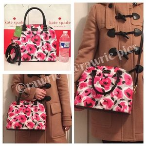 kate spade Bags - SALE New Kate Spade Domed floral roses Satchel