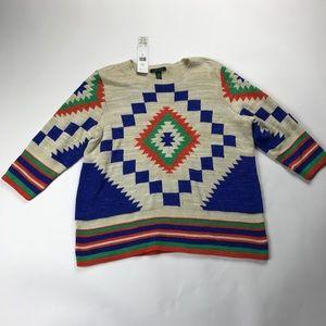 Lauren Ralph Lauren Sweaters - Lauren Ralph Lauren Aztec Print Sweater