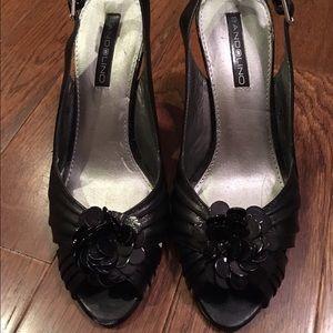 Bandolino Renay Peep Toe Flower Heels - 6 1/2 M