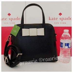 New Kate Spade Maise colorblock leather satchel
