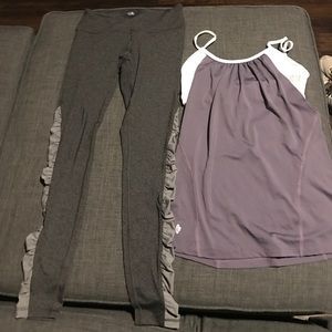 Ellie Lot of Leggings and Reverisible Workout Tank