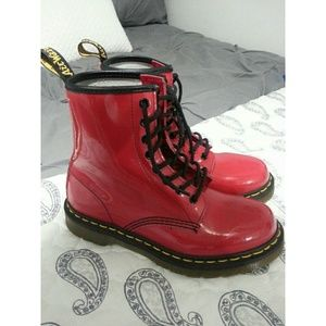 Red Dr. Marten Boots
