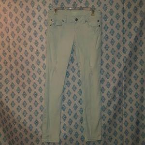 Almost Famous Denim - Light mint almost famous jeans