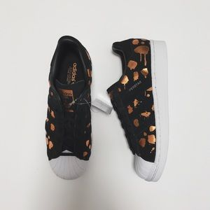 Adidas Shoes - Adidas Superstar Copper Splatter Print Sneakers