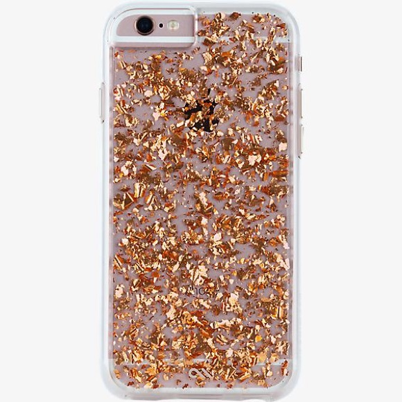 Casemate rose gold 24k gold flake iPhone 6/6s case