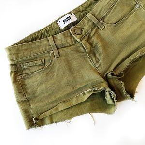 Paige Jeans Pants - Paige denim green shorts