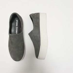 Opening Ceremony Shoes - Opening Ceremony Grey Suede Cici Platform Sneakers