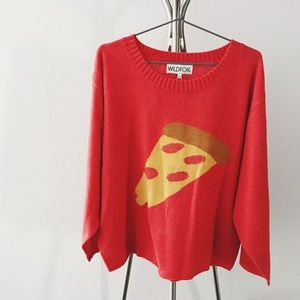 Wildfox Slouchy Pizza Sweater