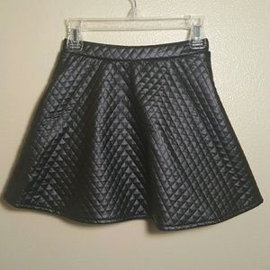 Children's Place Other - Black Pleather Quilted skirt Girl Children's Place