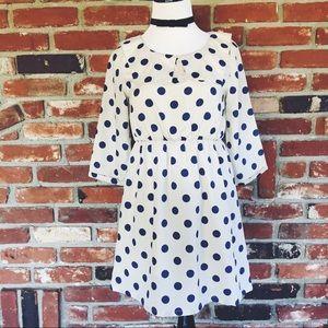 alice moon Dresses & Skirts - Nautical Boho Sailor Polka Dot Dress S