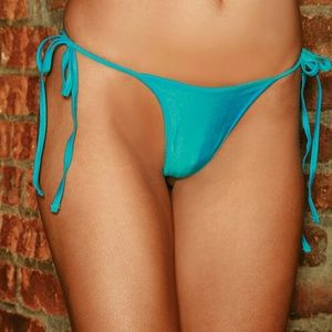 Electric Lingerie Blue Side Tie Thong