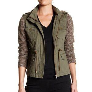 Sebby Jackets & Blazers - Sebby Fleece Sleeve Utility Jacket