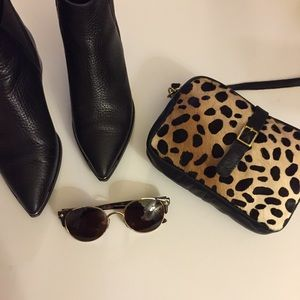 Clare Vivier Handbags - Clare V leopard cross body