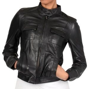 Members Only Silvia leather jacket