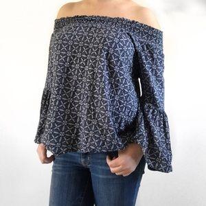 Tops - Boho Off-shoulder top