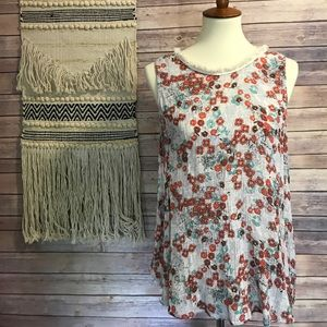 hinge Tops - NWT Hinge sleeveless floral blouse from Nordstrom