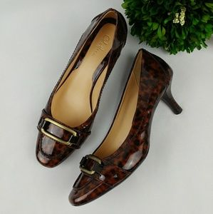 Cole Haan Shoes - COLE HAAN Animal print patent leather pumps