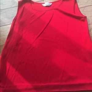 Misook Tops - Misook exclusives  red tank top blouse M