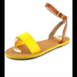 Yellow and brown sandal