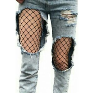 Breaux-Mode Accessories - ✴ [S|M|L] Chic Black Fishnet Pantyhose