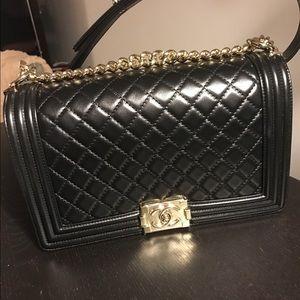 CHANEL Handbags - Black Chanel new medium boy bag