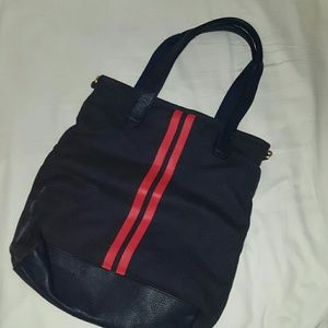 Gap Navy Blue Striped Cavas Bag