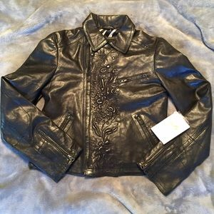 Scully Jackets & Blazers - NWT scully leather jacket with embroidery detail!