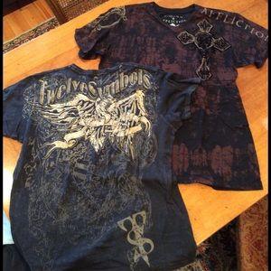 Affliction Other - Affliction Tee LG w/bonus 2shirts