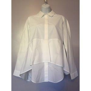 COS Tops - {COS} Crisp White Peplum Shirt