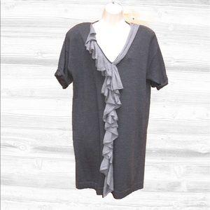 Nanette Lepore Dresses & Skirts - Nanette Lepore Wool Ruffled Shift Dress