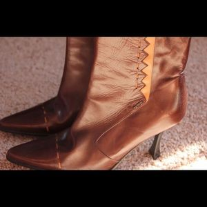 Byblos Shoes - BYBLOS women's high heel brown booty