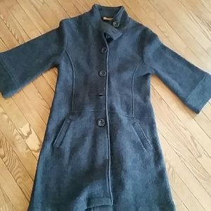 Jackets & Blazers - 100% charcoal grey wool jacket, not lined