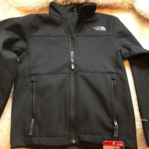 North Face boys black jacket