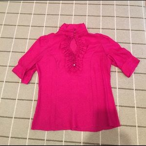 Etcetera Tops - Bright pink 100% silk blouse
