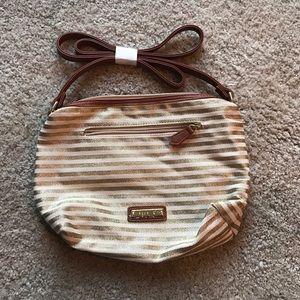 Madden Girl Handbags - Madden Girl gold and tan purse NWOT