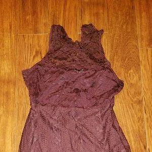 Abercrombie & Fitch Lace  Burgundy Tank Dress