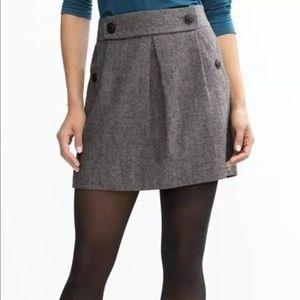Banana Republic Dresses & Skirts - Banana Republic Herringbone Wool Blend Mini Skirt