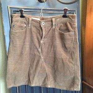 Brown Corduroy Mini Skirt